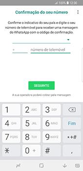 Samsung Galaxy S9 - Aplicações - Como configurar o WhatsApp -  9
