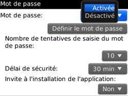 BlackBerry 8520 - Sécuriser votre mobile - Activer le code de verrouillage - Étape 6