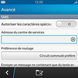 BlackBerry Q10 - SMS - Configuration manuelle - Étape 8