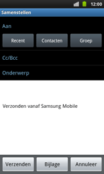 Samsung I9001 Galaxy S Plus - E-mail - hoe te versturen - Stap 5