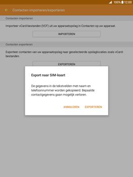 Samsung Galaxy Tab A 9.7 (SM-T555) - Contacten en data - Contacten kopiëren van toestel naar SIM - Stap 9