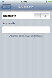 Apple iPhone 3G - Bluetooth - connexion Bluetooth - Étape 7