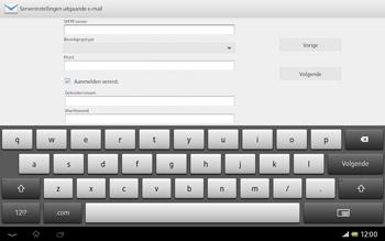 Sony SGP321 Xperia Tablet Z LTE - E-mail - Handmatig instellen - Stap 16