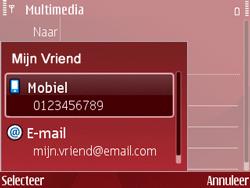 Nokia E63 - MMS - Afbeeldingen verzenden - Stap 7