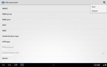 Samsung P5100 Galaxy Tab 2 10-1 - Mms - Manual configuration - Step 13