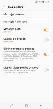Samsung Galaxy S8 - Mensajería - Configurar el equipo para mensajes de texto - Paso 7