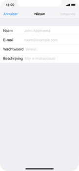 Apple iPhone X - iOS 12 - E-mail - Account instellen (IMAP zonder SMTP-verificatie) - Stap 7