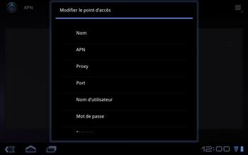 Huawei Mediapad S7-301u - Internet - Configuration manuelle - Étape 8