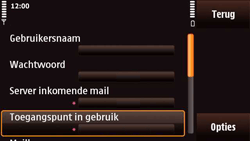 Nokia N97 Mini - E-mail - e-mail instellen: POP3 - Stap 23