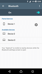 Sony Xperia X - Android Nougat - WiFi and Bluetooth - Setup Bluetooth Pairing - Step 8