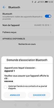 Huawei Y6 (2018) - Internet et connexion - Connexion avec un équipement multimédia via Bluetooth - Étape 8