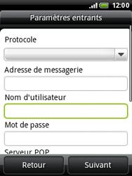 HTC A3333 Wildfire - E-mail - Configuration manuelle - Étape 6