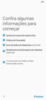 Samsung Galaxy A20 - Primeiros passos - Como ativar seu aparelho - Etapa 7