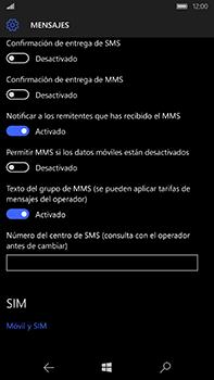 Microsoft Lumia 950 XL - Mensajería - Configurar el equipo para mensajes de texto - Paso 8