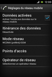 Sony ST23i Xperia Miro - Internet - activer ou désactiver - Étape 6