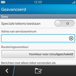 BlackBerry Q5 - SMS - handmatig instellen - Stap 10