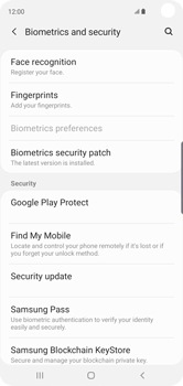 Samsung Galaxy S10 - Device - Enable Find my Phone - Step 5