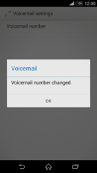 Sony D6603 Xperia Z3 - Voicemail - Manual configuration - Step 9