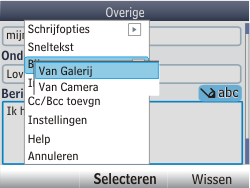 Nokia Asha 302 - E-mail - E-mails verzenden - Stap 13