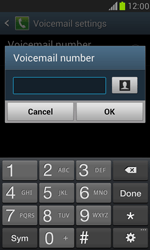 Samsung I8190 Galaxy S III Mini - Voicemail - Manual configuration - Step 6