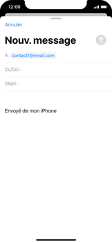 Apple iPhone X - iOS 13 - E-mail - envoyer un e-mail - Étape 5
