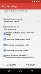 Motorola Moto G (3ª Geração) - Email - Como configurar seu celular para receber e enviar e-mails - Etapa 14