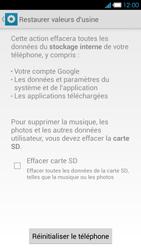 Bouygues Telecom Ultym 4 - Aller plus loin - Restaurer les paramètres d'usines - Étape 6