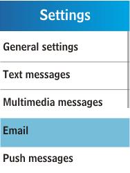 Samsung C3300K - E-mail - Manual configuration - Step 5