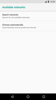 Huawei Nexus 6P - Android Oreo - Network - Manually select a network - Step 7