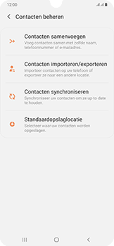 Samsung galaxy-a50-dual-sim-sm-a505fn - Contacten en data - Contacten kopiëren van SIM naar toestel - Stap 6