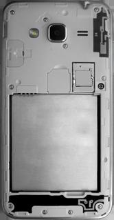 Samsung Galaxy J3 (2016) DualSim (J320) - Primeros pasos - Quitar y colocar la batería - Paso 3