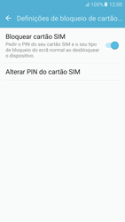 Samsung Galaxy S6 Android M - Segurança - Como ativar o código PIN do cartão de telemóvel -  9