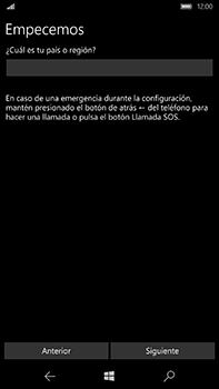 Microsoft Lumia 950 XL - Primeros pasos - Activar el equipo - Paso 4