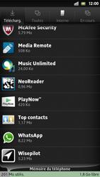 Sony Xpéria S - Applications - Supprimer une application - Étape 6