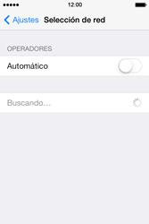 Apple iPhone 4S iOS 7 - Red - Seleccionar una red - Paso 5