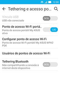 Asus Zenfone Go - Wi-Fi - Como usar seu aparelho como um roteador de rede wi-fi - Etapa 10
