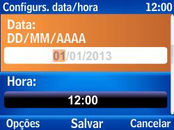 Nokia Asha 302 - Funções básicas - Como configurar data e hora - Etapa 6