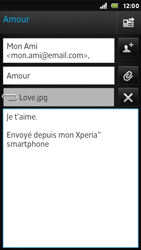Sony ST25i Xperia U - E-mail - envoyer un e-mail - Étape 11