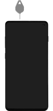 Samsung Galaxy S10 - Toestel - simkaart plaatsen - Stap 2