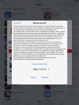 Apple iPad 9.7 (Model A1823) - Applicaties - Account aanmaken - Stap 9