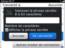 BlackBerry 9320 - Internet et connexion - Accéder au réseau Wi-Fi - Étape 7