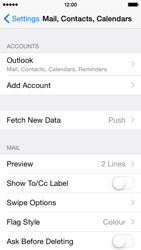 Apple iPhone 5s - iOS 8 - E-mail - Manual configuration (outlook) - Step 9