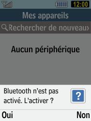 Samsung C3590 - Photos, vidéos, musique - Envoyer une photo via Bluetooth - Étape 11