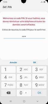 Samsung Galaxy A50 - Sécurité - activéz le code PIN de l'appareil - Étape 10