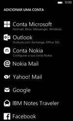 Nokia Lumia 625 - Email - Adicionar conta de email -  6