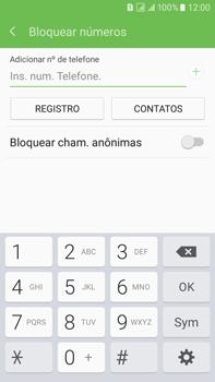 Samsung Galaxy On 7 - Chamadas - Como bloquear chamadas de um número específico - Etapa 8