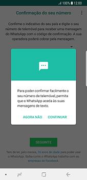 Samsung Galaxy S8 - Android Oreo - Aplicações - Como configurar o WhatsApp -  11