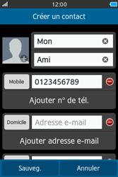 Samsung Wave M - Contact, Appels, SMS/MMS - Ajouter un contact - Étape 7