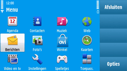 Nokia N97 - SMS - Handmatig instellen - Stap 3