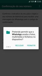 Samsung Galaxy S6 Android M - Aplicações - Como configurar o WhatsApp -  9